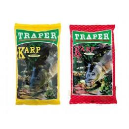 Прикормка TRAPER SEKRET 1 kг Karp (красный, желтый)
